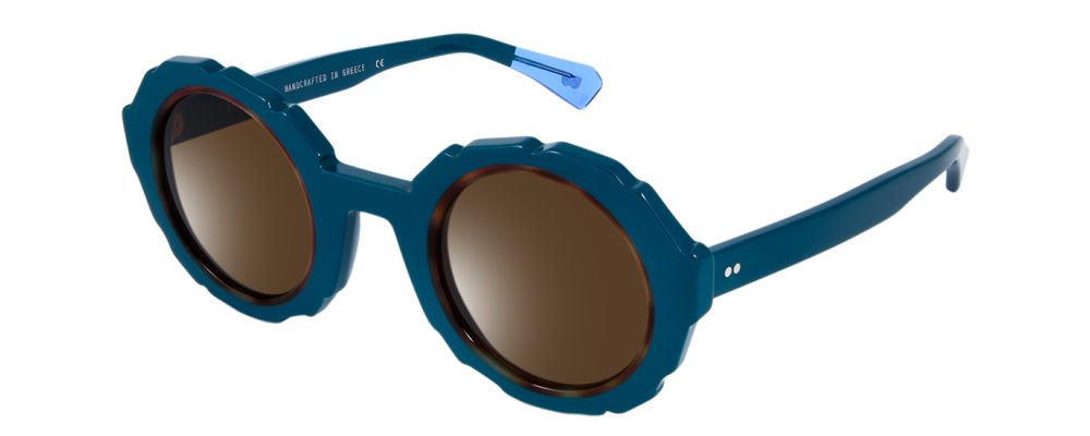 Color: Teal Brown Tortoise